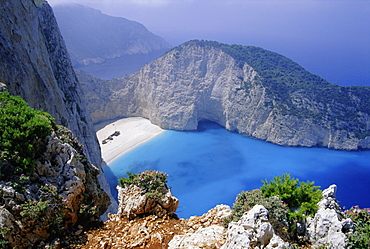 Shipwreck Cove, Zakinthos, Ionian Islands, Greece, Europe