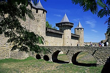 Inner castle, Carcassonne, UNESCO World Heritage Site, Aude, Roussillon, France, Europe