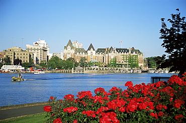 Empress Hotel and Innter Harbour, Victoria, Vancouver Island, British Columbia, Canada, North America