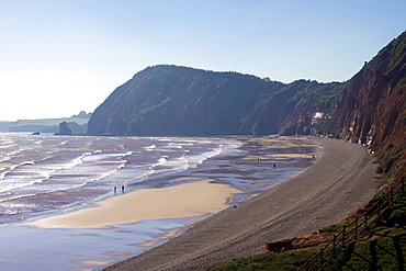 High Peak and Sidmouth Beach, Devon, England, United Kingdom, Europe
