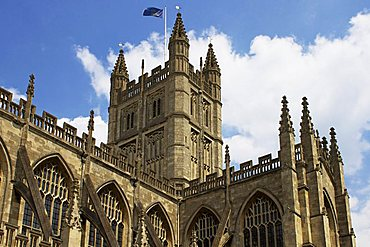 Bath Abbey, Bath, UNESCO World Heriage Site, Avon, England, United Kingdom, Europe
