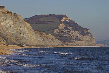 Golden Cap, Jurassic Coast, UNESCO World Heritage Site, Dorset, England, United Kingdom, Europe