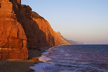 Salcombe Hill Cliffs, Sidmouth, Jurassic Coast, UNESCO World Heritage Site, Devon, England, United Kingdom, Europe