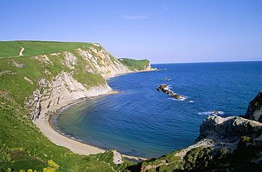 St. Oswald's Bay and Brandy Bay, Dorset, England, United Kingdom, Europe