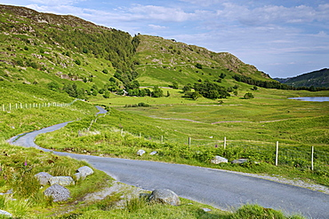 Road near Blea Tarn, Lake District National Park, Cumbria, England, United Kingdom, Europe