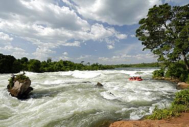 Itanda Falls, Victoria Nile, Uganda, East Africa, Africa