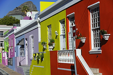 Malay area of Bo-Cape renowned for its colouful houses, Cape Town, South Africa, Africa