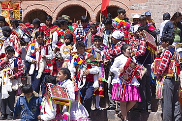Religious festival in preparation for the Corpus Christi festival, Urcos, Peru, South America