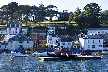 Fowey harbour and town, Cornwall, England, United Kingdom, Europe