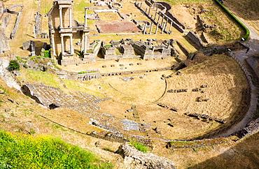 Roman theatre, Volterra, Tuscany, Italy, Europe