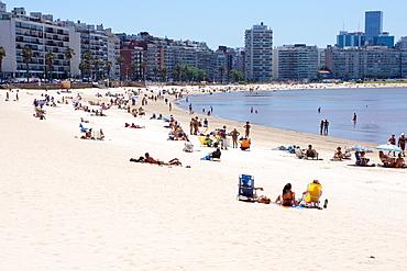 Pocitos Beach, Montevideo, Uruguay, South America