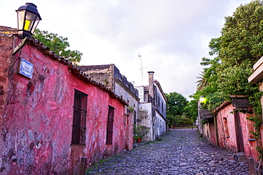 Typical street in Colonia, UNESCO World Heritage Site, Uruguay, South America