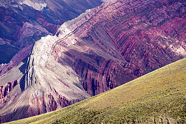 Multi coloured mountains, Humahuaca, province of Jujuy, Argentina, South America