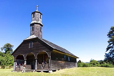 San Antonio church, Colo, island of Chiloe, UNESCO World Heritage Site, Chile, South America