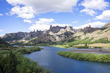 River Limay, Valle Encantado (Magical Valley), Bariloche district, Argentina, South America