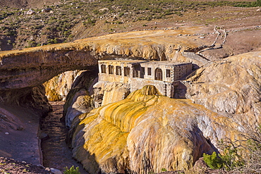 Inca natural bridge, volcanic sediment, Mendoza district, Argentina, South America