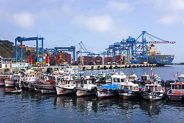 Harbour, Valparaiso, UNESCO World Heritage Site, Chile, South America