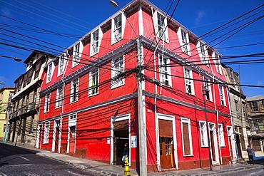 Colourful house, Valparaiso, UNESCO World Heritage Site, Chile, South America
