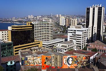 Wonderful graffiti, Valparaiso, UNESCO World Heritage Site, Chile, South America