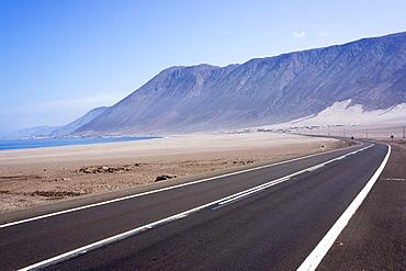 Coastal road, Atacama Desert, Chile, South America