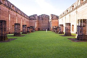 Jesus de Tavarangue, one of the best preserved Jesuit Missions, UNESCO World Heritage Site, Paraguay, South America