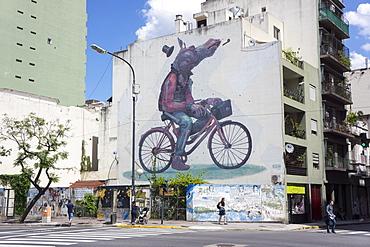 Fun graffiti, San Telmo, Buenos Aires, Argentina, South America