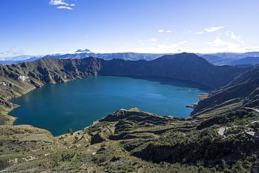 Quilotoa Loop, volcanic crater lake, Ecuador, South America
