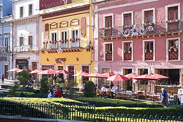 View of town centre, Guanajuato, Mexico, North America