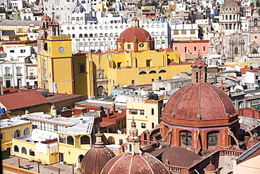 Town view from funicular, Guanajuato, UNESCO World Heritage Site, Mexico, North America