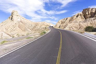 On the road in Baja California, Mexico, North America