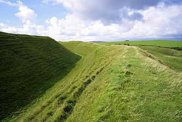 Maiden Castle, near Dorchester, Dorset, England, United Kingdom, Europe