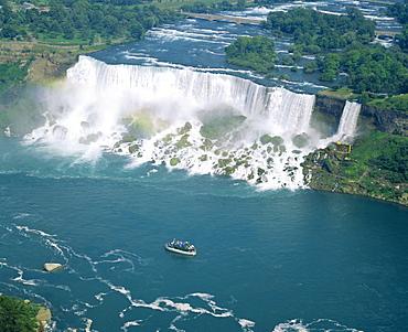 Aerial view of the American Falls, Niagara Falls, New York State, USA, North America