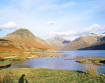 Wastwater with Wasdale Head and Great Gable, Lake District National Park, Cumbria, England, United Kingdom, Europe