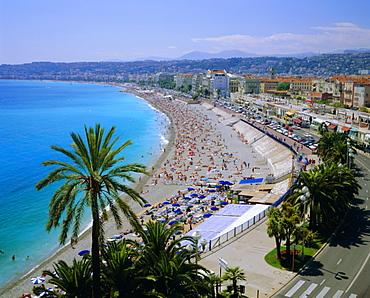 Promenade des Anglais, Nice, Cote d'Azur, Alpes-Maritimes, Provence, France, Europe
