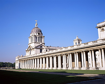 Royal Naval College, UNESCO World Heritage Site, Greenwich, London, England, United Kingdom, Europe