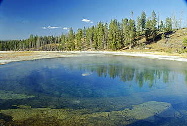 Beauty Pool in Upper Geyser Basin, Yellowstone National Park, UNESCO World Heritage Site, Wyoming, United States of America (U.S.A.), North America