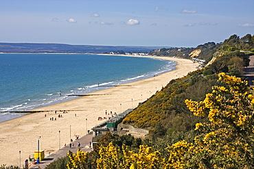West Beach and Cliffs, Bournemouth, Poole Bay, Dorset, England, United Kingdom, Europe