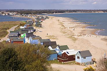 Mudeford spit or sandbank, Christchurch Harbour, Dorset, England, United Kingdom, Europe