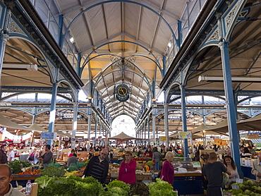 Market hall, Dijon, Burgundy, France, Europe
