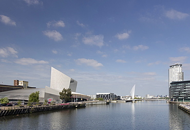 Imperial War Museum North and Manchester Ship Canal, Salford Quays, Manchester, England, United Kingdom, Europe