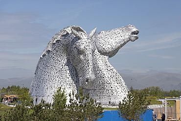 The Kelpies by Andy Scott, Helix Park, Falkirk, Scotland, United Kingdom, Europe