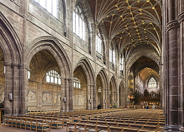 Chester Cathedral, interior looking Northeast, Cheshire, England, United Kingdom, Europe