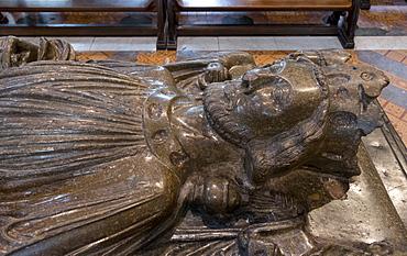Effigy of King John, Worcester Cathedral, Worcester, England, United Kingdom, Europe
