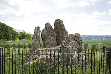 Whispering Knights, The Rollright Stones, on the Oxfordshire Warwickshire border, England, United Kingdom, Europe