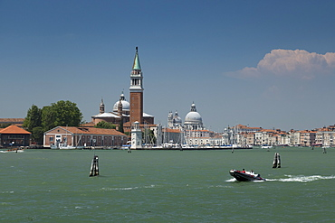 Churches of San Giorgio Maggiore and Santa Maria della Salute, Venice, UNESCO World Heritage Site, Veneto, Italy, Europe