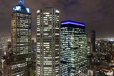 City at night from Sofitel Melbourne on Collins Street, Melbourne, Victoria, Australia, Pacific