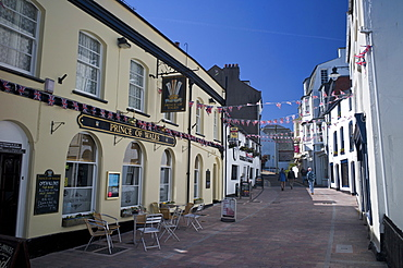 Street in the town centre, Ilfracombe, Devon, England, United Kingdom, Europe