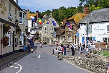 Beer village during Regatta Week, Devon, England, United Kingdom, Europe