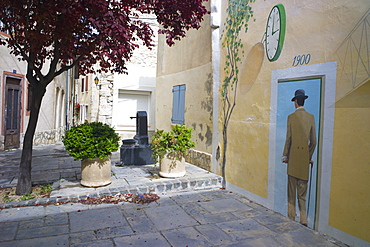 Mural in the town of Sigean, Languedoc-Roussillon, France, Europe