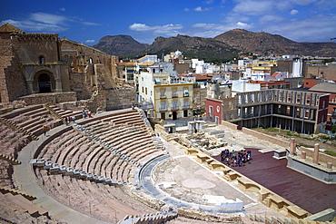 The Roman Theatre, Cartagena, Spain, Europe